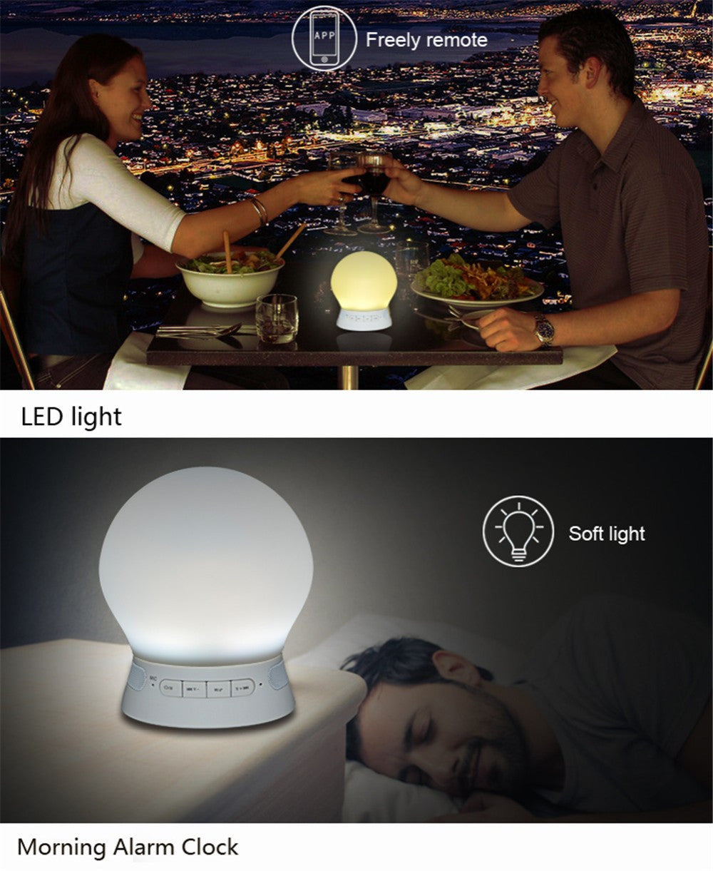 LED Night Light  Bluetooth Speaker Induction Lamp