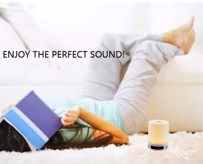 Portable bluetooth speaker with light time display alarm clock