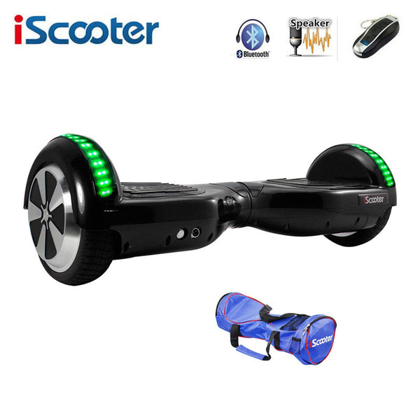 iScooter Hoverboard 6.5 inch Electric with Led Bluetooth Speaker