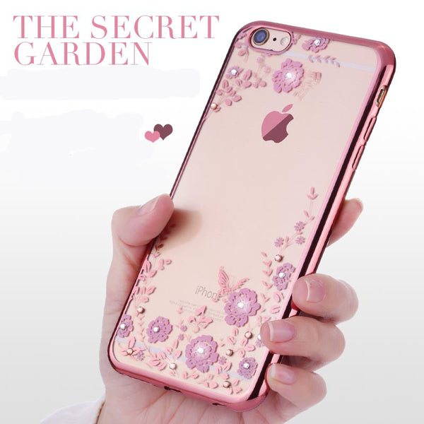 Luxury soft rose gold phone case for iPhone 6 6S 6plus 6Splus