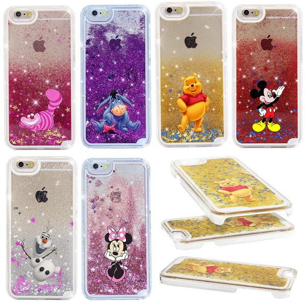 2017 Fairy Tale Shining Star Liquid Quicksand Case Cover For iPhone 5 5S 5C 4 4S