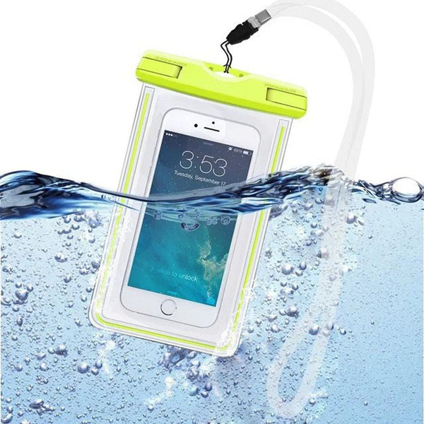 Luminous Underwater Pouch Phone Case For iphone 5 5S SE 6 6s Plus For Samsung Galaxy S6 S7 edge Note 7
