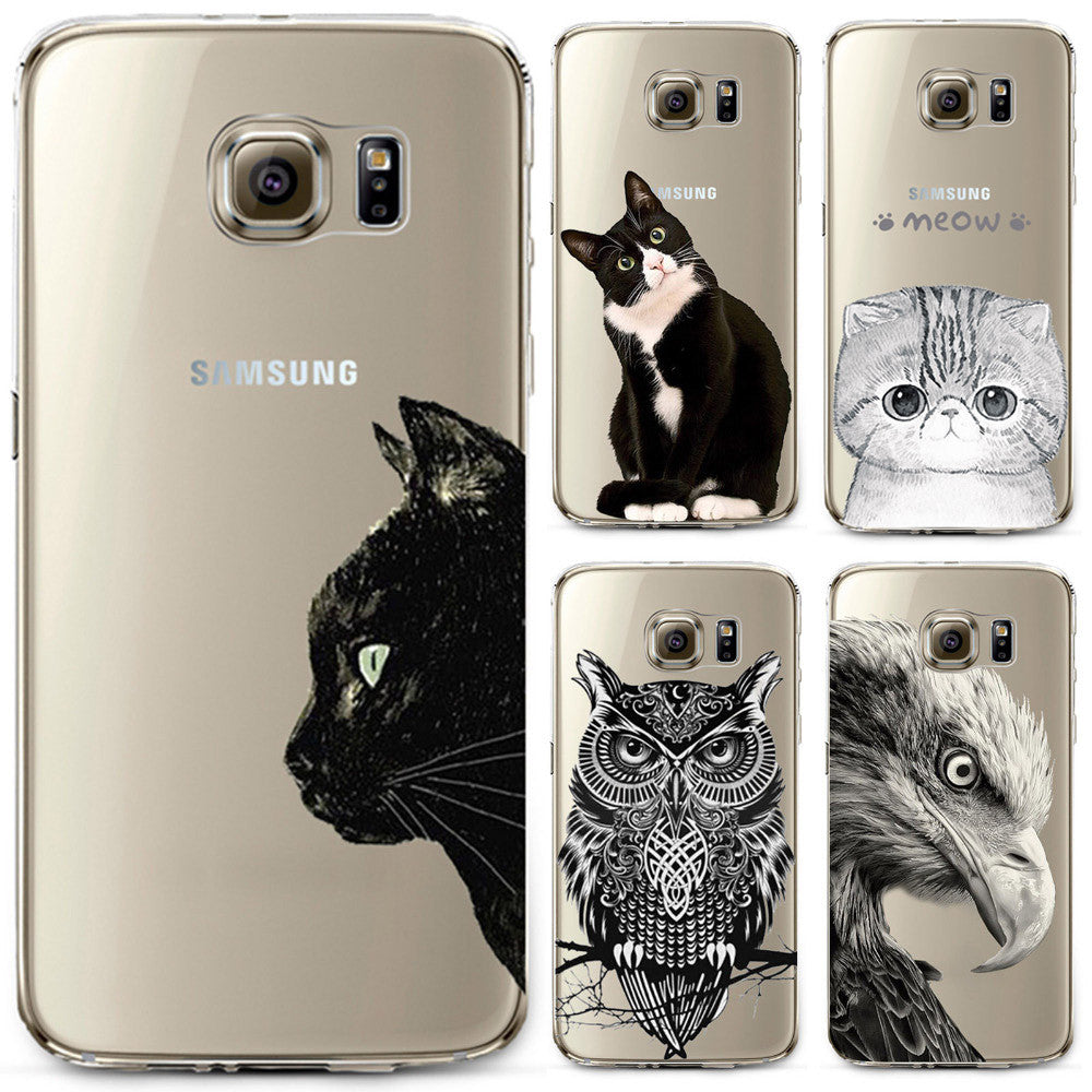 Samsung Galaxy S4 S5 S6 S6edge S6edge+ S7 S7edge N4 N5 Soft Thin Cover Cute Cat Owl Animal Cover