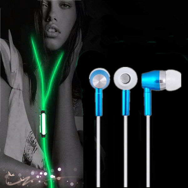 Glow in the dark earphones
