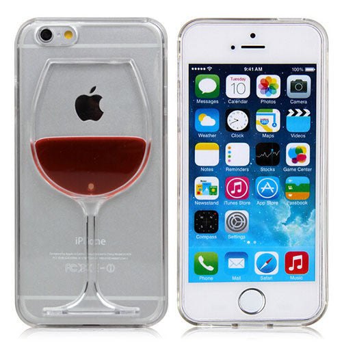 Red Wine Glass liquid transparent hard back Cover