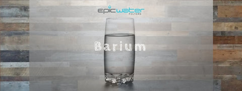 Barium Drinking Water Filter USA Safe to drink