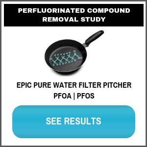 PFOA PFOS Epic Pure Water Filter Pitcher Test Brita Pur Zerowater