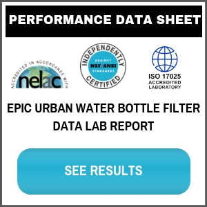 Epic Water Filters Urban Bottle Filtration Test Results