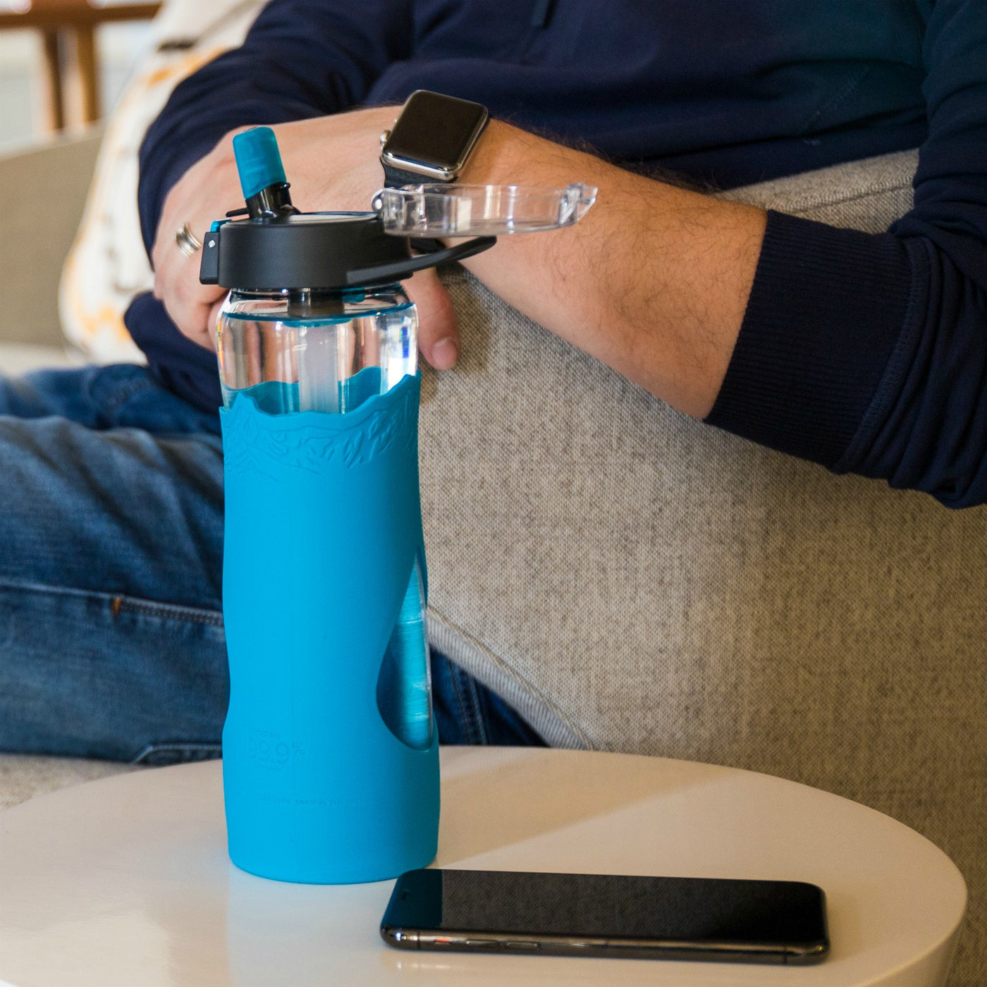 The Escape | Glass Water Filtration Bottle