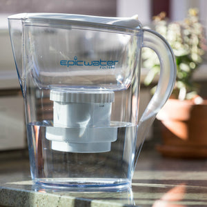 Epic Pure Water Filter Pitcher | White | Removes Fluoride