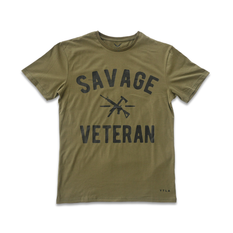 Savage Veteran Premium T shirt- Military Green
