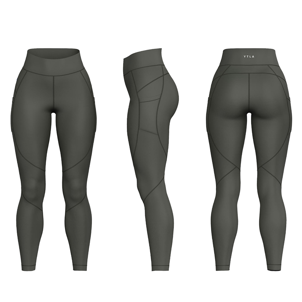 YTLA Leggings-Military Green
