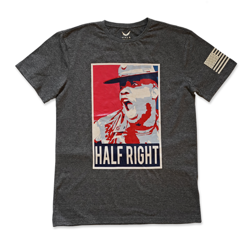Half Right Premium T-Shirt- Dark Heather