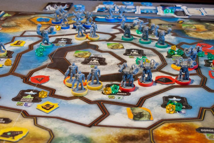 Cry Havoc Game Board with miniatures