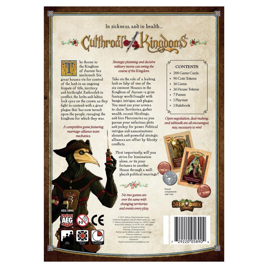 Cutthroat Kingdoms Back of Box