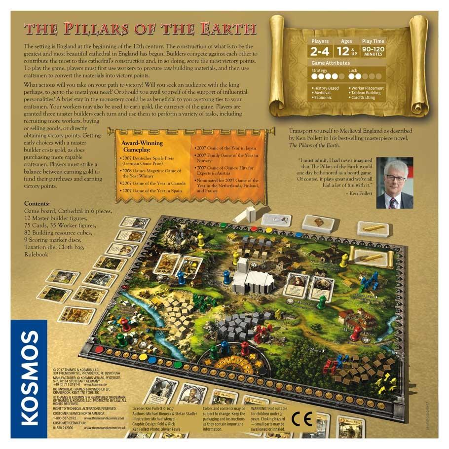 Pillars of the Earth Back of Box