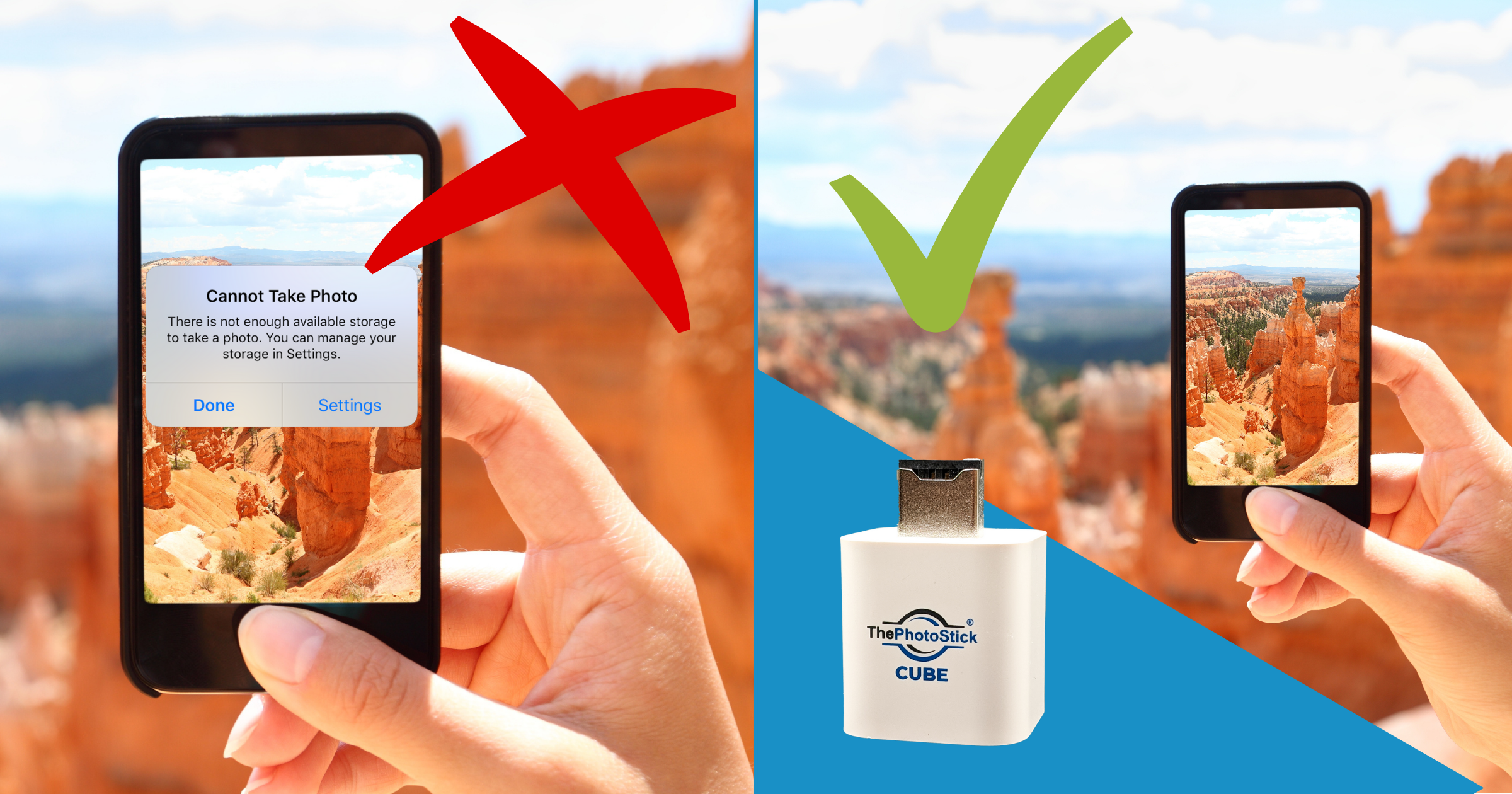 Stop missing picture perfect moments because of full storage!