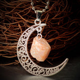 High-Energy Crystal Moon Pendants