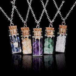 Crystal Bottle Necklace