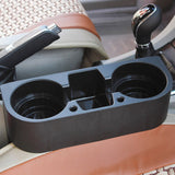Car Auto Cup Holder Portable Multifunction Vehicle Seat Cup Cell Phone Drinks Holder Glove Box Car Interior Organizer Black