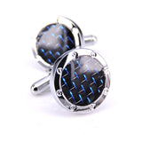 New Arrive Men's Shirt Cufflinks Metal Copper Men Enamel Cuff Links For Wedding Party Blue thread Men Sleeve Shirt Cufflinks
