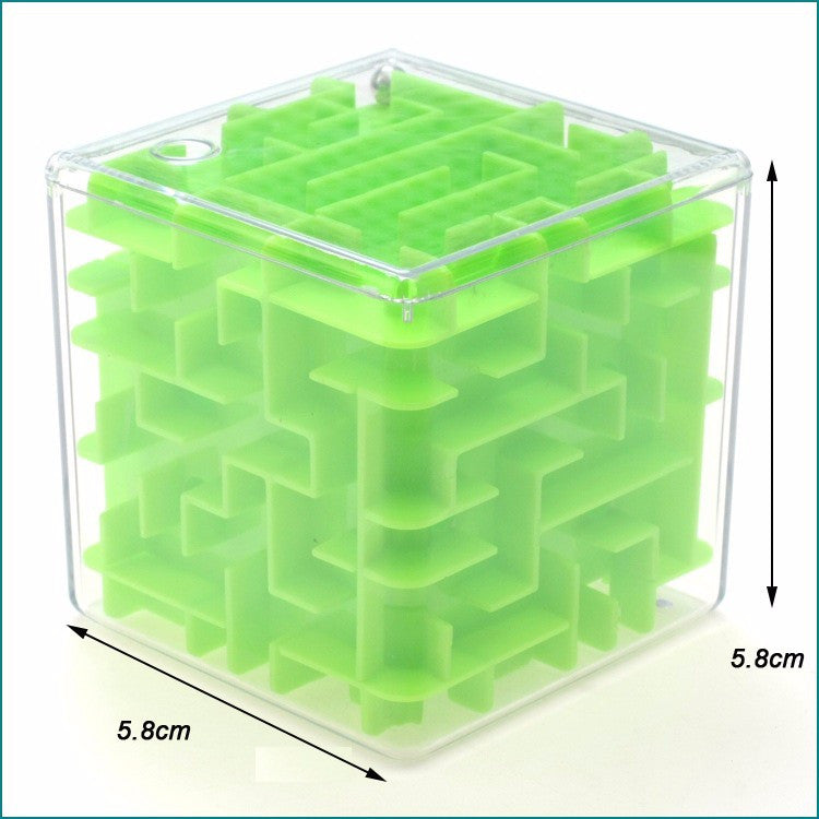 Green Maze Magic Cube Puzzle 3D Mini Speed Cube Labyrinth Rolling Ball Toys Puzzle Game Cubos Magicos Learning Toys For Chilren