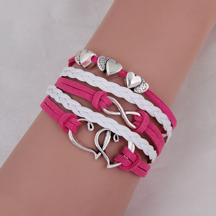 Fashion Jewelry Vintage Anchors Rudder Metal Leather Bracelet Multilayer Rope Bracelets Wrap Bracelets Girl Wholesale Bangle