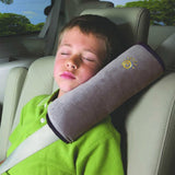 """The Cruizer-Snoozer"" Seat Belt Shoulder Pillow Promotes Neck Alignment While Your Child Sleeps In The Car."