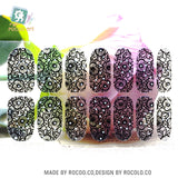Y5413 Transparent Black Net Lace Glass Ball Design Adhesive Nail Art Stickers Candy Color Rinestones Decor Nail Wraps Decal