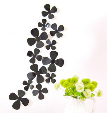 """The Flower Wall"" 12pcs 3D Flower Wall Stickers"
