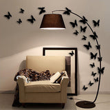 """The Black Butterfly Set"" 12pc 3D Wall Sticker Home Decoration"