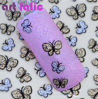 3D Butterfly Nail Art Shinning Glitter Stickers DIY Nail Sticker Decals Nail Art Accessories