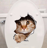 """Peek-A-Boo"" Cute Cat Toilet Seatcover / Wall 3D Sticker"