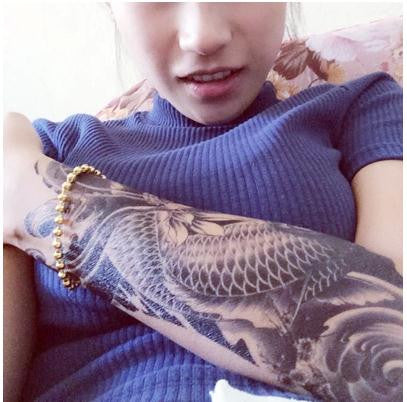 Sexy Oriental Carp Beauty Makeup Body Art 3D Waterproof Temporary Exotic Tattoo Stickers