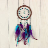 Antique Imitation Dreamcatcher Gift checking Dream Catcher Net With natural stone Feathers Wall Hanging Decoration Ornament