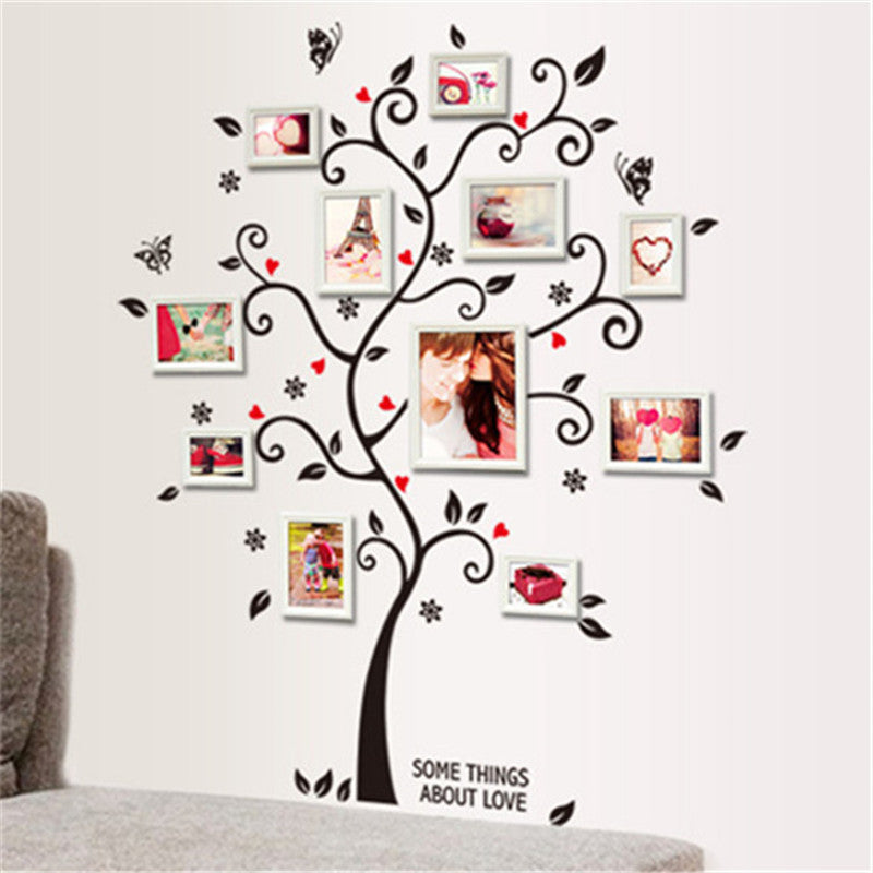 """The Family Photo Tree""  Tree branch stickers for lovely photo frame array."