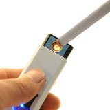 """The Flameless Lighter"" Windproof Rechargeable Cigarette Lighter Flame-less Cigarette No Gas e-Lighter USB Charged"