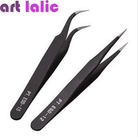 Hot Promotion 2 Black Acrylic Gel Nail Art Rhinestones Paillette Nipper Picking Tool #OS