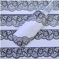Hot Selling New 3D Black Lace Flower Design Nail Art Stickers Decals For Nail Tips Decoration Tool Free Shipping