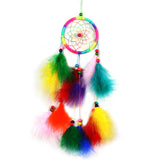 Handmade Colorful Dreamcatcher Wind Chimes Indian Style Feather Pendant Dream Catcher Hanging Gift Home Decor