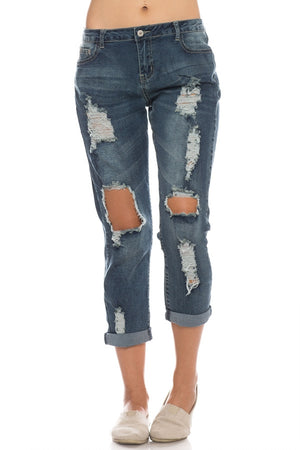 THE BOY IS MINE BOYFRIEND JEANS