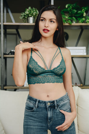 Load image into Gallery viewer, LARK BRALETTE - TEAL