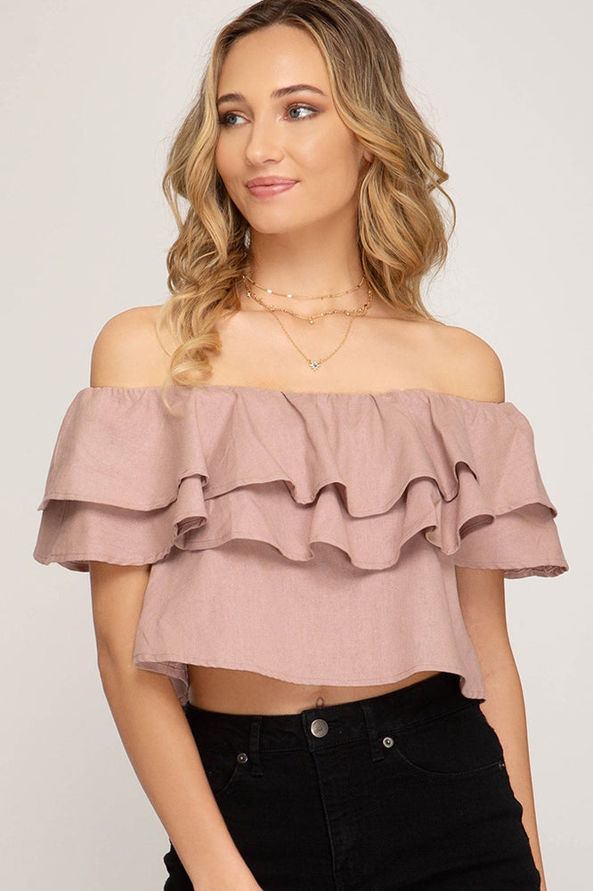 Load image into Gallery viewer, JASMINE CROP TOP - ROSE PINK