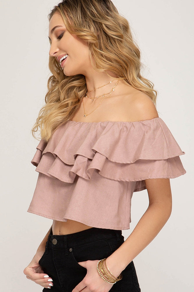 JASMINE CROP TOP - ROSE PINK