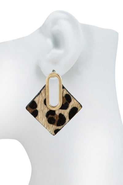 MILLER LEOPARD EARRINGS