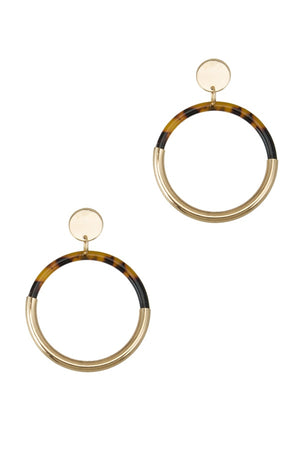 KYRA TORTOISE HOOP EARRINGS