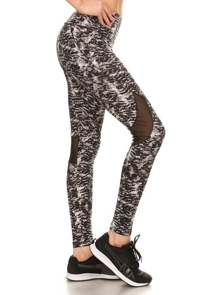 WORK IT OUT TIGHTS IN BLACK/WHITE