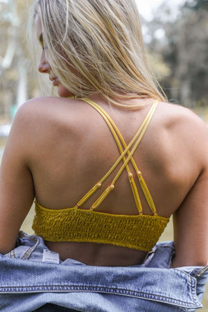 INDY BRALETTE - YELLOW