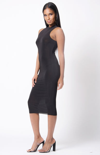 HUG ME TIGHT DRESS - BLACK
