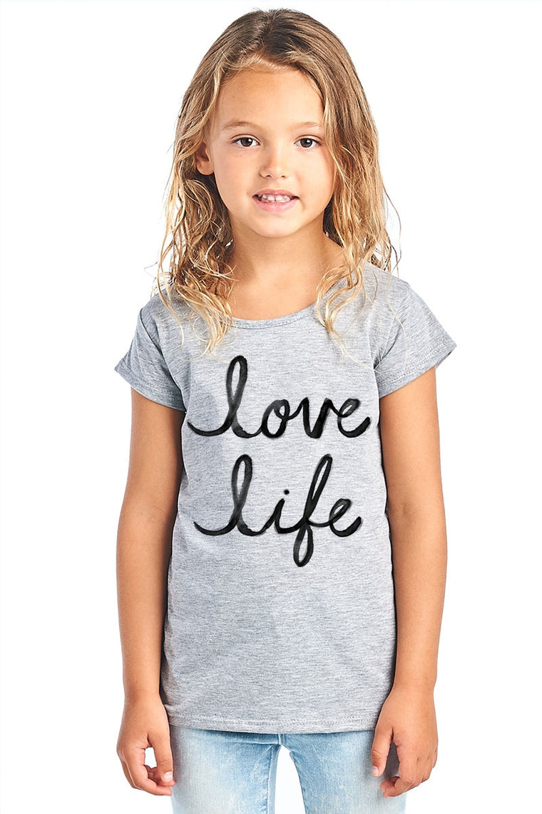 LOVE LIFE GRAPHIC IN GREY